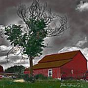 Bills Barn   Red Art Print