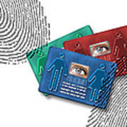 Biometric Id Cards Art Print