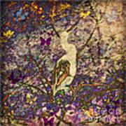 Bird And Butterflies Art Print