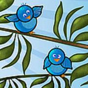 Bird Branch Art Print by Melisa Meyers