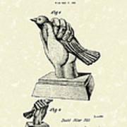 Bird In The Hand Coin Bank 1943 Patent Art Art Print