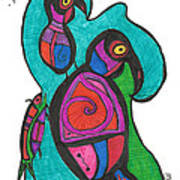 Birdfish Watch Art Print