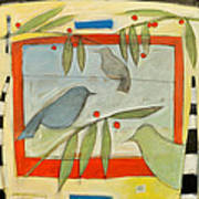 Birds And Berries Art Print
