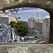 Bird's Eye View Of Dubrovnik Art Print