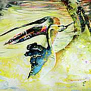 Birds Love Dance Art Print