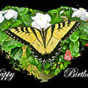 Birthday Greeting Card - Tiger Swallowtail Butterfly Art Print