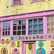 Colorful Building Bisbee Az Art Print