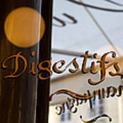 Bistro Sign For Digestives Art Print