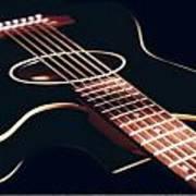 Black Acoustic Guitar Art Print