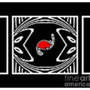 Minimalism Black White Red Abstract Art No.171. Art Print