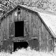 Black And White Barn Art Print