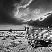 Black And White In Dungeness Art Print