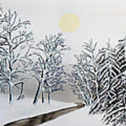 Black And White Woods Art Print