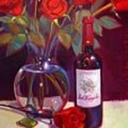 Black Cherry Bouquet Art Print