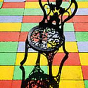 Black Iron Chair Art Print
