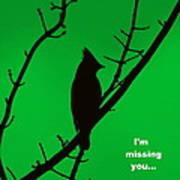 Black  On Green Art Print