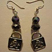 Black Pirate Earrings Print by Jenna Green