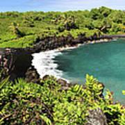Black Sand Beach Maui Art Print