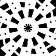 Black Spirale Art Print