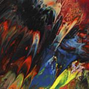 Blackbird Rainbow Blitz Art Print