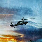 Blackhawk Helicopter Art Print