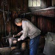 Blacksmith - Tinkering With Metal  Art Print