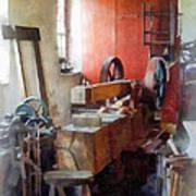 Blacksmith Shop Near Windows Art Print