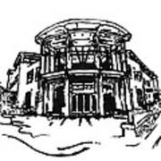 Blair Public Library In Fayetteville Ar Print by Amanda  Sanford