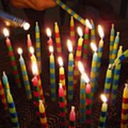 Blazing Amazing Birthday Candles Art Print
