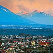 Bled City And Breg. Slovenia Art Print