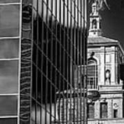 Blending Architecture Black And White Art Print