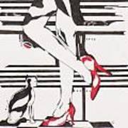 Blind Cat Shoes Art Print