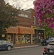 Blind Georges And Laughing Clam On G Street In Grants Pass Art Print by Mick Anderson
