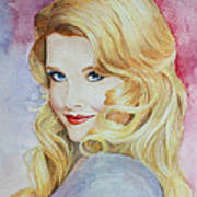 Blond Pinup  Art Print by Terri Maddin-Miller