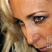 Blond Woman Strict Art Print
