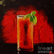 Bloody Mary Coctail Art Print