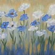 Blue And White Flora Art Print