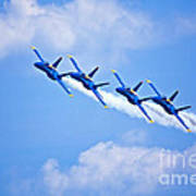 Blue Angels On Flyby Art Print