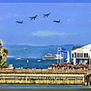 Blue Angels San Francisco Wharf Art Print