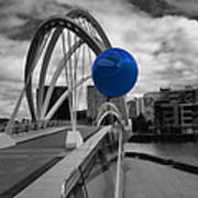 Blue Balloon Art Print