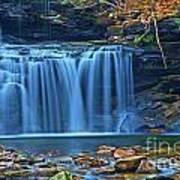 Blue Cascade Falls Art Print