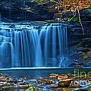 Blue Cascades Art Print