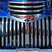 Blue Chevy Pick-up Grill Art Print