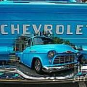 Blue Chevy Pickup Dbl. Exposure Art Print