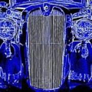 Blue Coupe Art Print