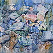 Blue Creek Stones Art Print by Patsy Sharpe
