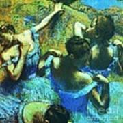Blue Dancers Art Print