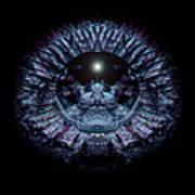 Blue Eye Sphere Art Print by David Kleinsasser