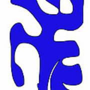 Blue Form 15 Art Print