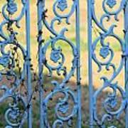 Blue Gate Swirls Art Print